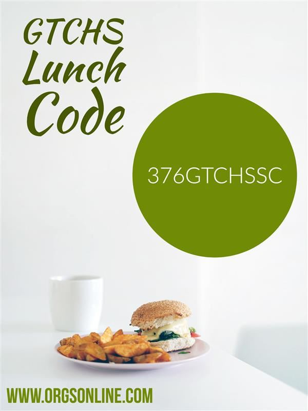 GTCHS Lunch Code